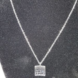 "paparazzi Jewelry - Silver ""Own Your Journey"" Pendant Necklace"